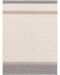 Alfombra de lana New Stripes Crema/Gris