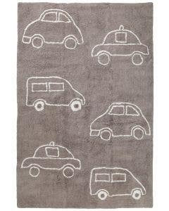 Alfombra lavable para niños Bambini Cars Taupe