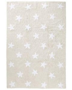 Alfombra lavable para niños Bambini Stars Beige