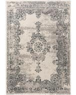 Alfombra Antique Negro/Gris